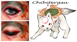 Chibiterasu Makeup by nazzara