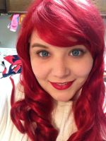 New Ariel wig makeup test! by Labyrinthinwyrm