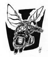 Baxter Stockman (Inks) by cubanBrouse