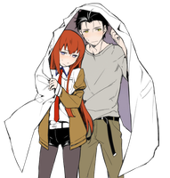 Okabe X Kurisu by TraumaTeam4ever