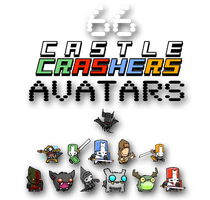 Castle Crashers Avatars by Autopsyrotica-Art