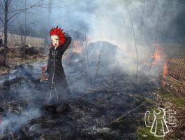 Now Axel burned... by Lord-Evell