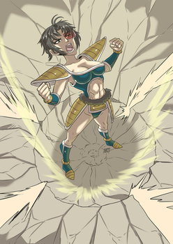 Commission: Dragon ball saiyan by KukuruyoArt