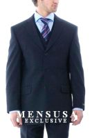 Exclusive stunning three piece blue mens suit by mensusasuits