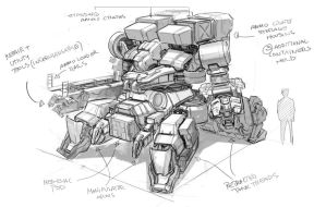 Support Mech by IronStylus
