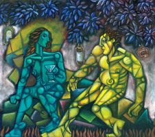 adam and eve ala chagall by bawayan