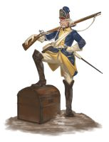 Swedish Grenadier 1700 Finished by Creative-Games