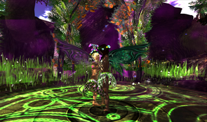 Canny and Xami Dancing in the Druid circle. by TERABBS