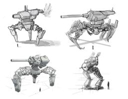 DieselPunk Mechs by Digital-Kebap