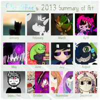 2013 Summary of Art by GlassFeline