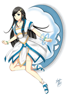 Anime girl - Yue Meng by ztgong