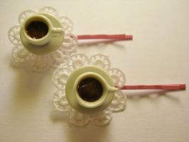 shabby chic hairpins by MarzapanArt