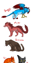 Some fav' characters by Lionenda