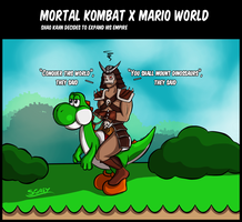 CrossoverIt - Mortal Kombat x Mario World by Silverhyren