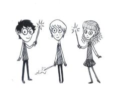 Harry, Ron, and Hermoine by mangojuice4lyfe