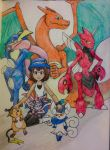 Poke team by outerbluefox