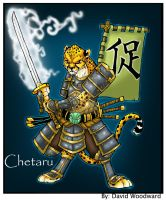 Chetaru cheetah samurai commission by badgerlordstudios