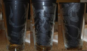 Jinx League of Legends Etched Glass by Clinkorz