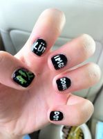 Vsauce Nails by ajandmdl