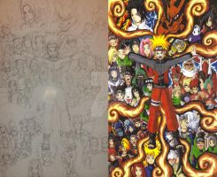 Naruto fan art sketch and color 01 by d13mon-studios