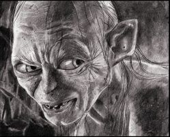 Gollum traditional by guilemo