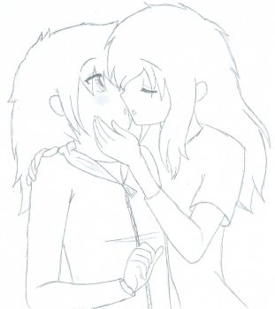 Surprise Kiss by AlexParanormal