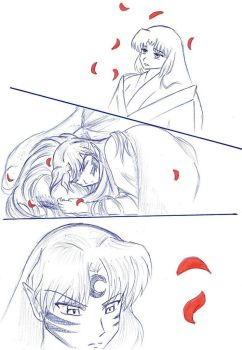 InuYasha - First meeting of Sesshomaru and Izayoi by Sasza-Ola