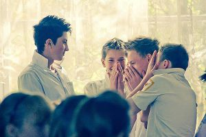 Boys laugh by Emmatyan