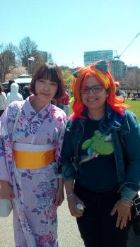 Rainbow Dash at the Boston Japan festival by EDVeloso