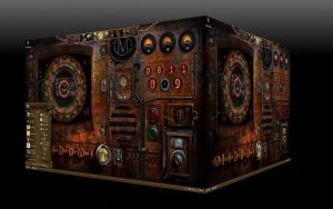 My Steampunk Desktop by michaelgoldthriteart