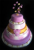 Weddingcake designed by bride by Naera
