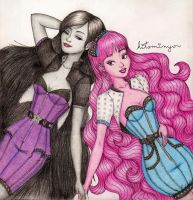 Rock n' Girly Collection - Bonnibel n' Marceline 2 by hitominyo