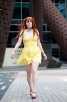 Out of My Way - Asuka Yellow Sundress Cosplay by KendraKei