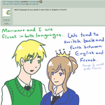 Ask 2p FrUK 10: English or French? by Ask-2pFrUK