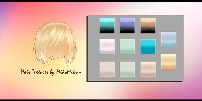 [MMD] Hair Textures by MikoMiko~ [DL] by LesnikovaP