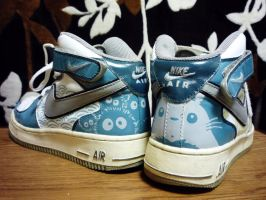 Totoro Nike Air Force Ones by haleOfuji