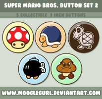 Super Mario Bros. Button Set 2 by MoogleGurl