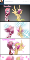 Butchershy and Pinkamena by kaiomutaru25