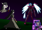 MLP:FiM - Blade v Machine (Stormbadger's Request) by SigmatheArtist