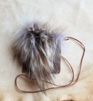 Wolf fur and leather pouch by lupagreenwolf