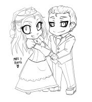 Happily ever after - Lineart by Obliquo