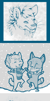 Winter Sketchies by Tesso