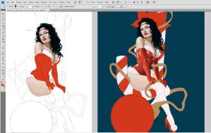 Christmas Pin Up by Claudia-SG