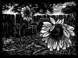 Lino sunflowers by Benegeserit