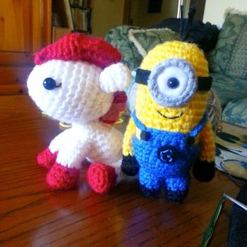 Pony and Minion by Spudsstitches