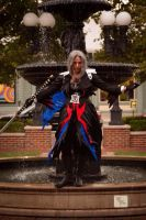 At the fountain 1 by Lady-Sephiroth