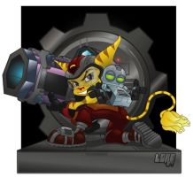 Ratchet and Clank by lordmesa