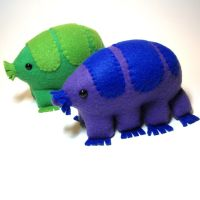Adorable tardigrades by WeirdBugLady
