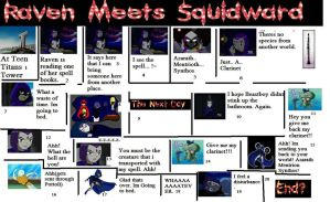 Raven Meets Squidward by COCOAJB