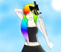 Rainbow in Sight, a Deadly Night (REQUEST) by CrasherMang